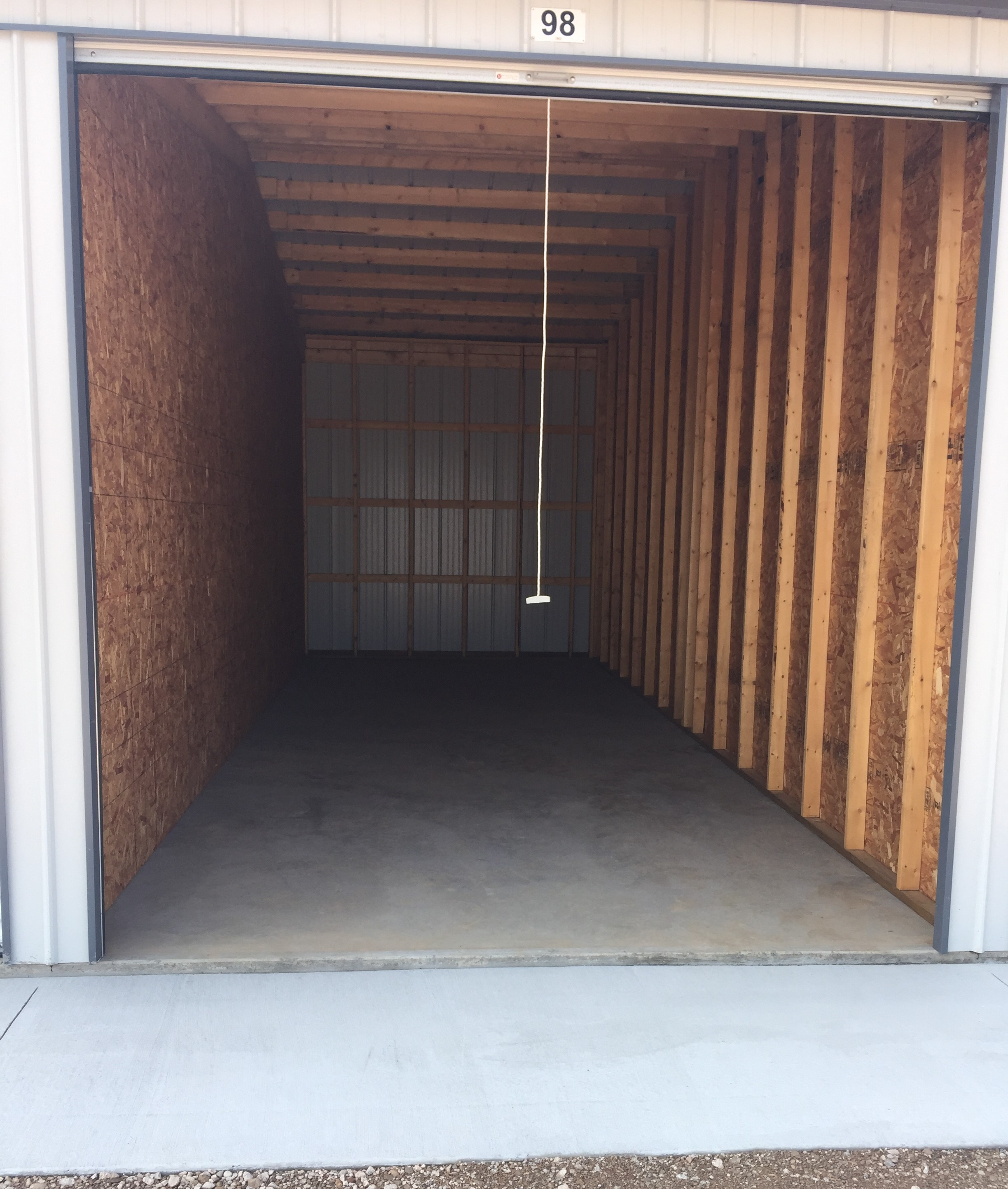 11'x30' shed with 10' x 10' doors